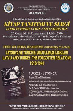 """Konferans: """"Letonya ve Türkiye: Unutulmuş İlişkiler 1918-1940"""""""