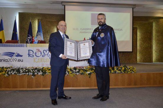 Romanya'nın Ankara Büyükelçisine Dostluk Beratı