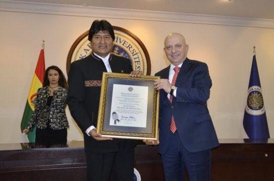 Bolivya Cumhurbaşkanı Üniversitemizdeydi
