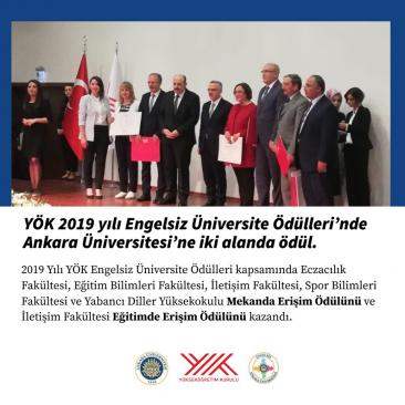 """Ankara Üniversitesine """"Engelsiz Üniversite"""" Ödülleri"""