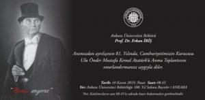 Ulu Önderimiz Mustafa Kemal Atatürk'ü Anma Toplantısı