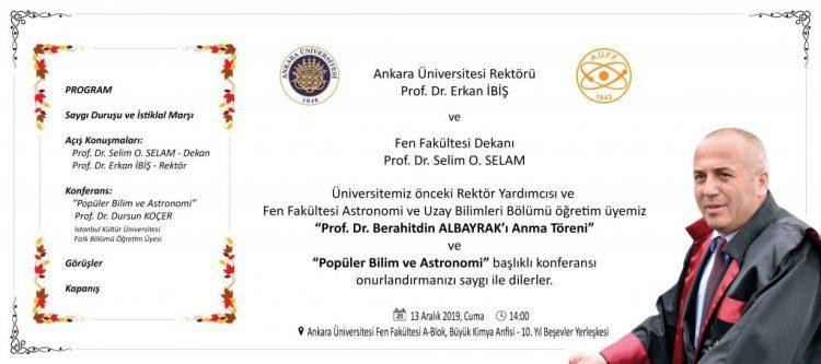 Prof. Dr. Berahitdin Albayrak'ı Anma Töreni