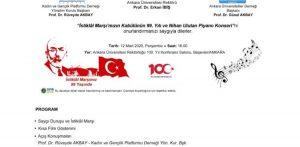 İstiklâl Marşımızın Kabûlünün 99. Yılı ve Nihan Ulutan Piyano Konseri