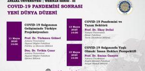 Ankara Üniversitesi Webinar Serisi Devam Ediyor